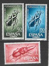 Spain Fernando Po Scott # 231/233 MNH Set. Insects