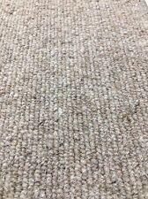 Carpet Remnant Roll End Heavenly Wheat Beige Wool Loop Pile 4x8.6m 50% OFF
