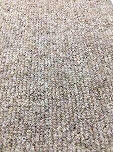 Carpet Remnant Roll End Heavenly Wheat Beige Wool Loop Pile 4x4m 50% OFF