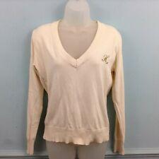 Henleys Womens jumper cream gold long sleeve 100% Cotton Classics 96
