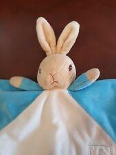 Peter Rabbit .. Blue/Beige  ..   Baby Comforter Blankie  .. Vgc