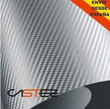 VINILO FIBRA CARBONO GRIS PLATA 3D 30 x 76 cm carbon fiver grey vinyl