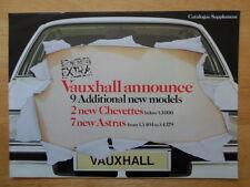 VAUXHALL Astra & Chevette New Models 1980 UK Mkt brochure