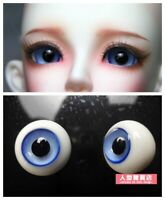 16mm Glass Eyes For 1//3 1//4 1//6 BJD Doll with Handled Sphericity A Pair of Blue