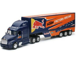 New Ray 1:32 Red Bull KTM Motocross team Truck Toy Model supercross Lorry