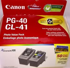 Canon Printer CL-41 Color & PG 40 Black Ink Cartridges & Photo Paper Combo Pack