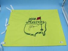 Jack Nicklaus Hand Signed Masters Pin Flag Beckett Certification