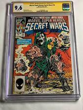 SECRET WARS 10 1985 CGC SS 9.6 NM+ SIGNED BY MIKE ZECK DOCTOR DOOM DR SPIDERMAN