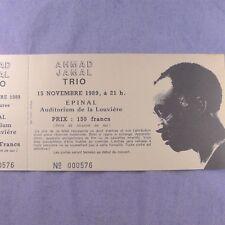 Billet concert Ahmad Jamal Trio Jazz Ticket Photo de LP Vinyl CD France 1989