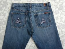 Seven For All Mankind Jeans Women's Size 29 Medium Wash Distressed Boot Cut Blue