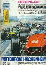 1968 Programm Preis von Hockenheim Europa Cup F3 Regazzoni TW GT FV Sportwagen