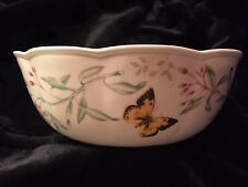 """Butterfly Meadows Lenox Collection Vegetable Bowl 9"""" Never Used"""