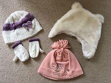 Girls Winter Hat   Gloves Set Bundle - 12-24 Months - Bear Ears- 4a005e00448e