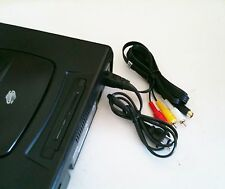AC Power Cord + Stereo AV/S Audio Video RCA Composite Cable Sega Saturn System