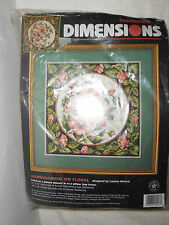 Hummingbirds on Floral Needlepoint Kit Dimensions 2448 Pillow/Picture Moskal