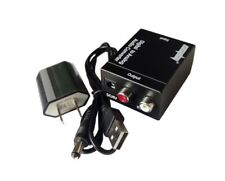 Digital Optical Coaxial to Analog RCA L/R Audio Converter Adapter with US Plug