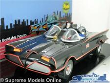 BATMAN BATMOBILE CAR MODEL 1:24 SIZE CLASSIC TV SERIES BLACK NJCROCE + FIGS T3