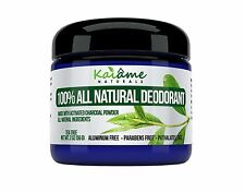 Kaiame Naturals Deodorant (Tea Tree) with Activated Charcoal Powder