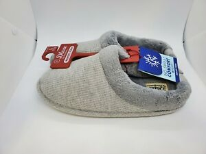 Deluxe by Dearfoams Women's House Slippers - GRAY - Size Large - FREE Shipping
