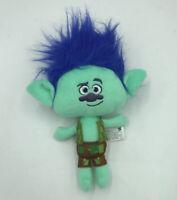 Dreamworks Trolls Branch Green Troll Blue Hair Plush Doll Stuffed Animal 14