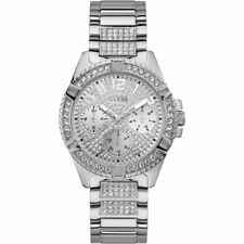 GUESS Women's 40mm Steel Bracelet & Case Quartz Silver-tone Dial Watch W1156L1