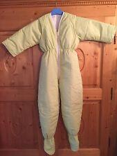 Winter Schlafsack mit Beinen und Armen Overall 122/128 NEU grün gestreift