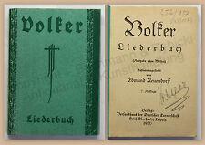 Neuendorff Volker Liederbuch 1930 Liedersammlung Musik Volkslieder Liedtexte xz