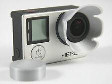 Sonnenblende Lens Hood GoPro Go Pro HERO 3+, 4 Linse Sun Shade silver silber