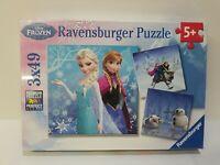 Disney's Frozen Ravensburger Lot 3x49 Piece Jigsaw Puzzles NEW