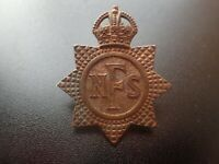 Original WW2 National Fire Service Brigade NFS Auxiliary AFS Cap Badge (Lot B6)