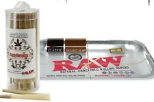 RAW KING SIZE CONES 50 COUNT + RAW ROLLING SILVER METALLIC Tray 11x7