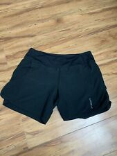 Brooks Chaser 5 Womans Black Athletic Running Workout Exercise Shorts L