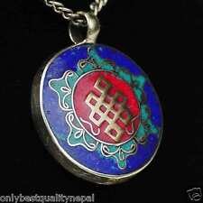 Amulet Buddha Colored Pendant Jewelry from India Thoughts Node Talisman A72