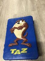 Vintage Looney Tunes Tunebox Shakespeare Taz Large Fishing Tackle Box FULL