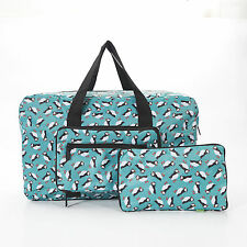 Eco Chic Puffin Bird Foldaway Holdall Travel Weekend Cabin Bag Lightweight Gym