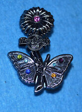 HARD ROCK CAFE 2008 Online Flower with Butterfly - Silver Pin # 43713