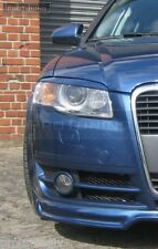 AUDI A4 B7 8E 04-07 HEADLIGHT BROWS EYELIDS EYEBROWS TRIMS Cover RS4 S4 eye rs