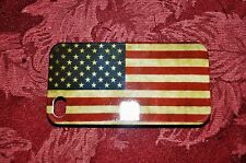 iPhone 4 / 4S Cell Phone Plastic Case Americana Style US Flag Glossy Finish