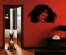 ik218 Wall Decal Sticker Decor girl gas mask apocalypse postapokalipsis world
