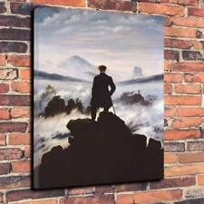 "Wanderer Above The Sea Of Fog Printed Canvas Picture A1.30""x20"" 30mm Deep"