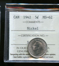 1942 Canada 5 Cents ICCS Certified MS62 DCB177