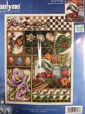 Counted Cross Stitch Kit Spring Montage by Janlynn, NEW