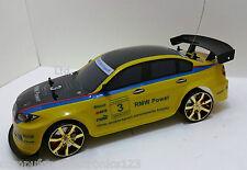 BMW M3 4WD DRIFT Radio Remote Control CAR 1/10 + GRATIS PNEUMATICI NUOVI Rapida Velocità Veloce