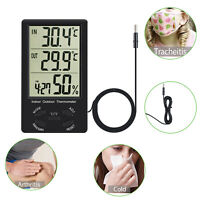 INDOOR OUTDOOR DIGITAL HYGROMETER THERMOMETER TEMPERATURE HUMIDITY METER HOME AU