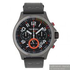 TW STEEL Uhr Sahara Force India TW430 Herren Chronograph in grau mit Lederband