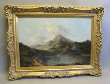 Fine Original SIDNEY PERCY English Landscape Oil Painting  c. 1870  antique