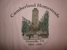 CUMBERLAND HOMESTEADS T SHIRT  Crossville Tennessee TOWER Housing Project Pink L