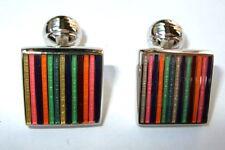 Duchamp London Multi Colours Square Striped Cuff Links