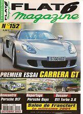 FLAT 6 152 ESSAI PORSCHE CARRERA GT 612CH 917 911 TURBO 3.0 GT3 RSR 356 A 1956