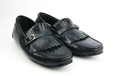 BRUNO MAGLI BLACK HANDMADE LOAFERS SHOES 100% LEATHER ITALY NEW SIZE 9 # 70